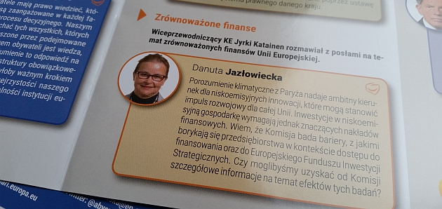 """Posłanka Danuta Jazłowiecka dla """"Newslettera"""""""
