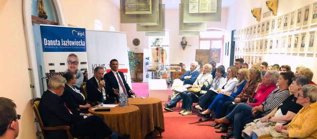 Spotkanie w ramach Klubu Obywatelskiego z europosłem Dariuszem Rosatim, europosłanką Danutą Jazłowiecką i posłem Tomaszem Kostusiem