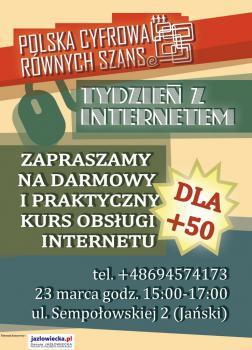 """Opolskie spotkanie w ramach kampanii """"Tydzień z Internetem"""" organizowane jest pod patronatem honorowym Danuty Jazłowieckiej"""