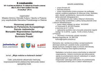 """Regulamin XV Ogólnopolskiego Konkursu Plastycznego dla Dzieci Specjalnej Troski """"Moja rodzina w kolorach świata"""""""