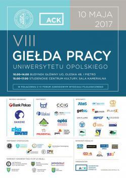 10 maja br. odbędzie się VIII Giełda Pracy Uniwersytetu Opolskiego